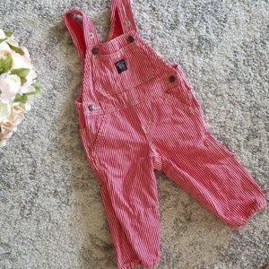 Baby B'gosh Overalls 12months, red and white strip
